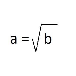 квадратный корень из числа