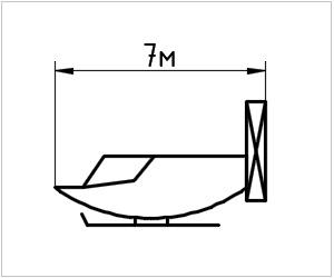 обозначение аэросаней на чертеже
