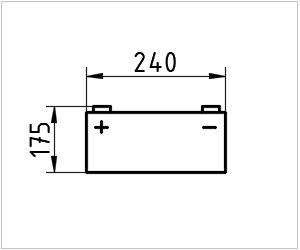 обозначение аккумулятора на чертеже