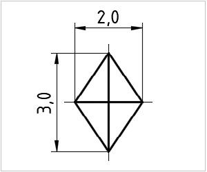 обозначение алмаза на чертеже