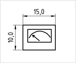 обозначение амперметра на чертеже