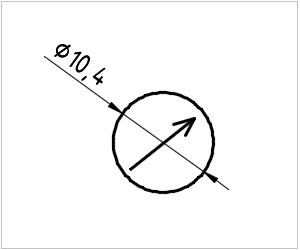 обозначение астролябии на чертеже