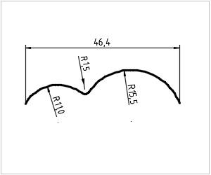 обозначение кривой на чертеже