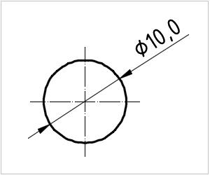 обозначение круга на чертеже