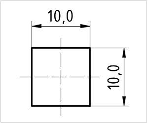 обозначение квадрата на чертеже