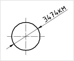 обозначение луны на чертеже