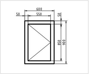 обозначение окна на чертеже