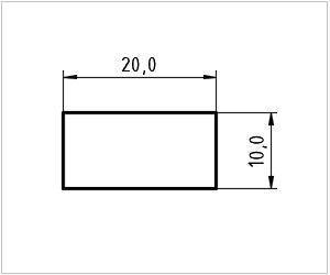 обозначение прямоугольника на чертеже