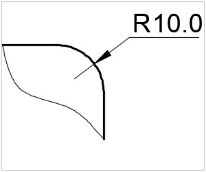 обозначение радиуса на чертеже