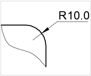 обозначение скругления на чертеже