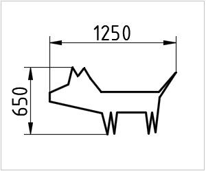 обозначение собаки на чертеже