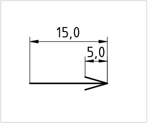 обозначение стрелки на чертеже
