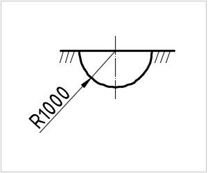 обозначение ямы на чертеже