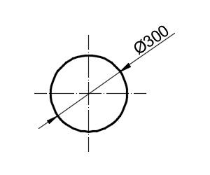 Указание диаметра на чертеже